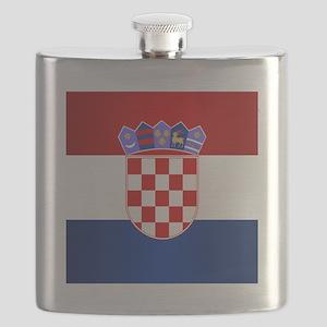 Croatia Flag Flask