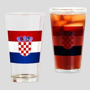Croatia Flag Drinking Glass