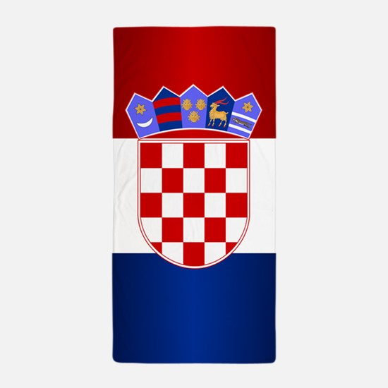 Croatia Flag Beach Towel