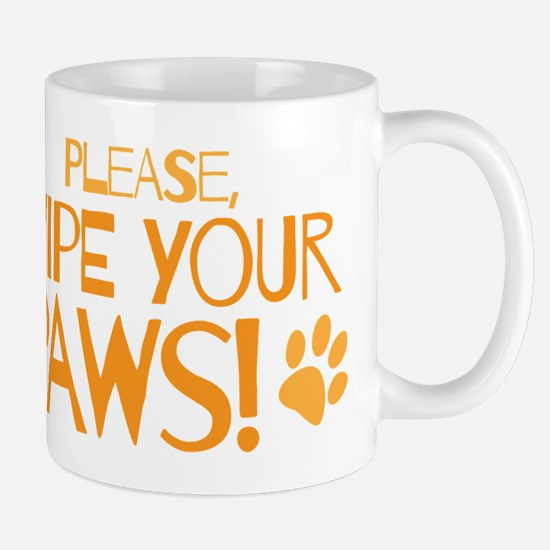 Please wipe your paws Mugs