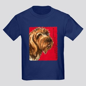 Wirehaired Pointing Griffon Kids Dark T-Shirt