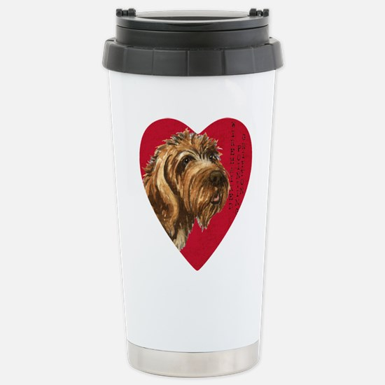 Wirehaired Pointing Gri Stainless Steel Travel Mug