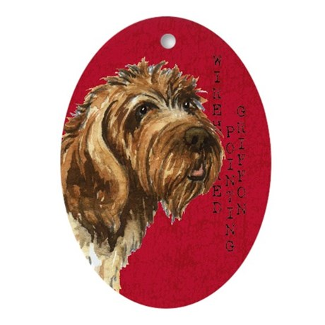 Wirehaired Pointing Griffon Ornament (oval) by dogsink