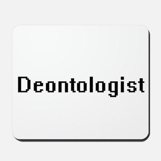 Deontologist Retro Digital Job Design Mousepad