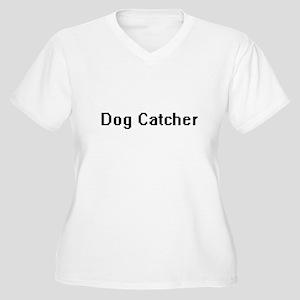 Dog Catcher Retro Digital Job De Plus Size T-Shirt
