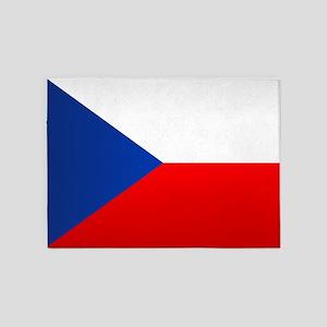 Czech Flag 5'x7'Area Rug