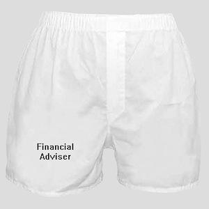 Financial Adviser Retro Digital Job D Boxer Shorts