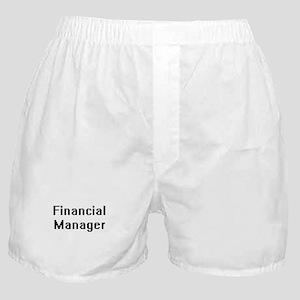 Financial Manager Retro Digital Job D Boxer Shorts
