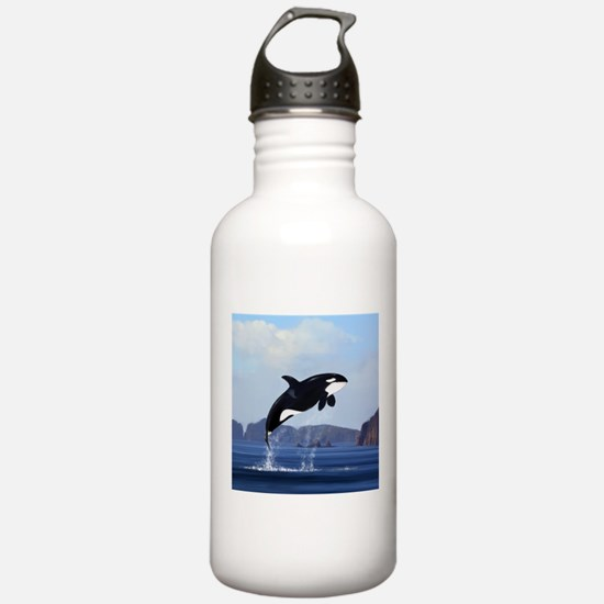 Orca Breaching Water Bottle