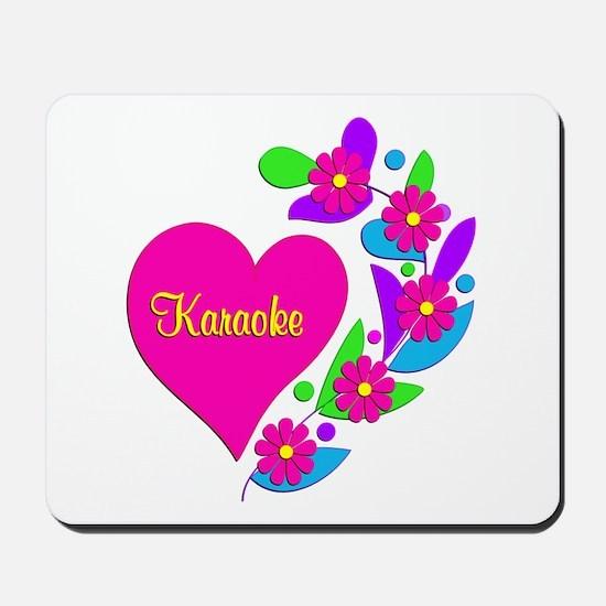 Karaoke Heart Mousepad