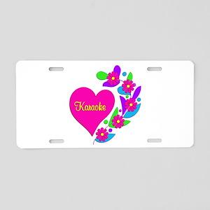 Karaoke Heart Aluminum License Plate