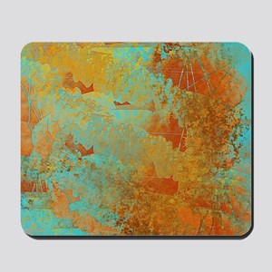 Turquoise and Copper Red Mousepad