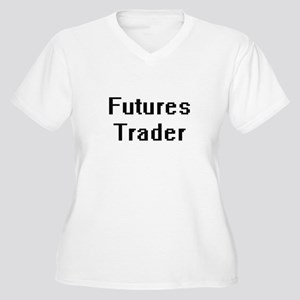 Futures Trader Retro Digital Job Plus Size T-Shirt