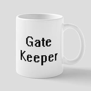 Gate Keeper Retro Digital Job Design Mugs