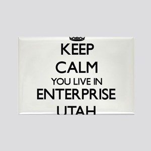 Keep calm you live in Enterprise Utah Magnets