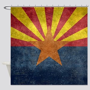 Arizona the 48th State - vintage re Shower Curtain
