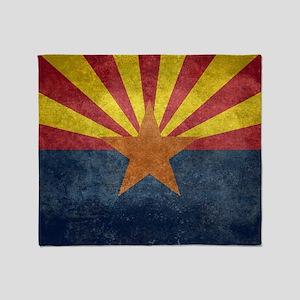 Arizona the 48th State - vintage ret Throw Blanket