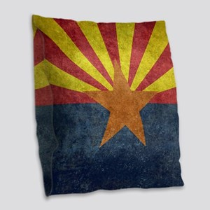 Arizona the 48th State - vinta Burlap Throw Pillow