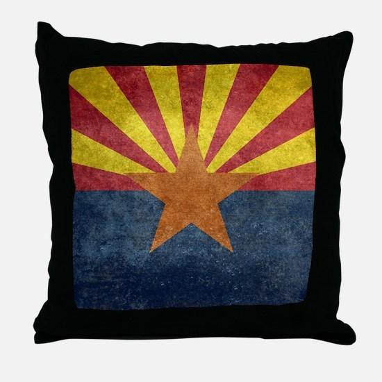 Arizona the 48th State - vintage retr Throw Pillow