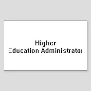 Higher Education Administrator Retro Digit Sticker