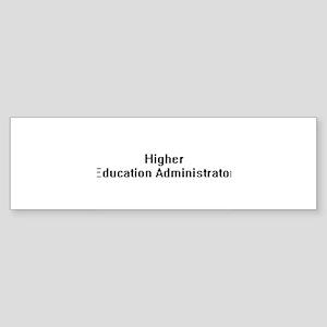 Higher Education Administrator Retr Bumper Sticker
