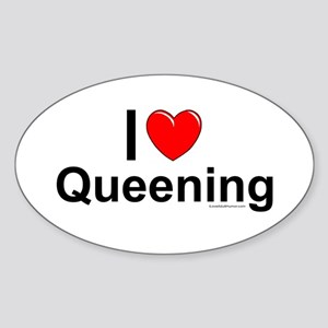 Queening Sticker (Oval)