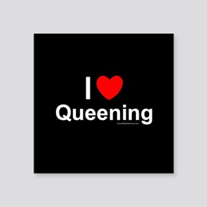 "Queening Square Sticker 3"" x 3"""