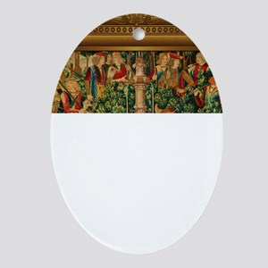 The Unicorn is Found Ornament (Oval)