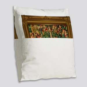 The Unicorn is Found Burlap Throw Pillow