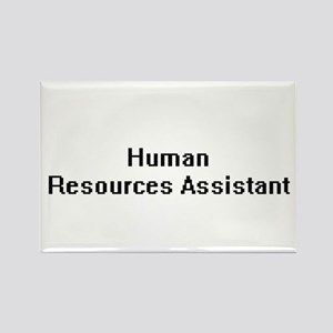 Human Resources Assistant Retro Digital Jo Magnets