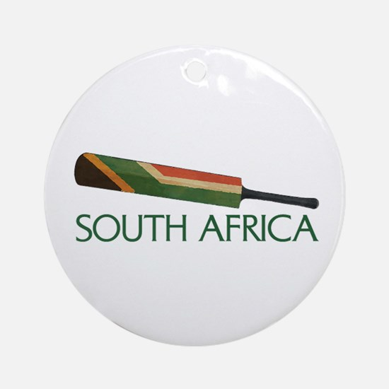 South Africa Cricket Ornament (Round)