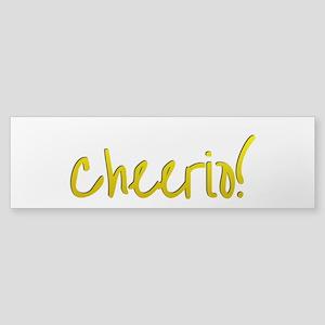 Cheerio Bumper Sticker