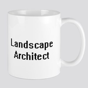 Landscape Architect Retro Digital Job Design Mugs