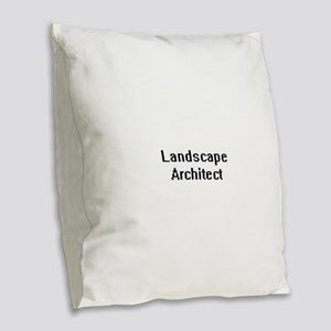 Landscape Architect Retro Digi Burlap Throw Pillow