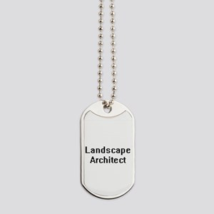 Landscape Architect Retro Digital Job Des Dog Tags