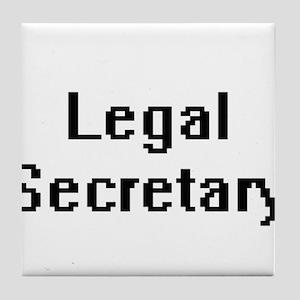 Legal Secretary Retro Digital Job Des Tile Coaster