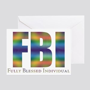 Tiedye FBI Greeting Card