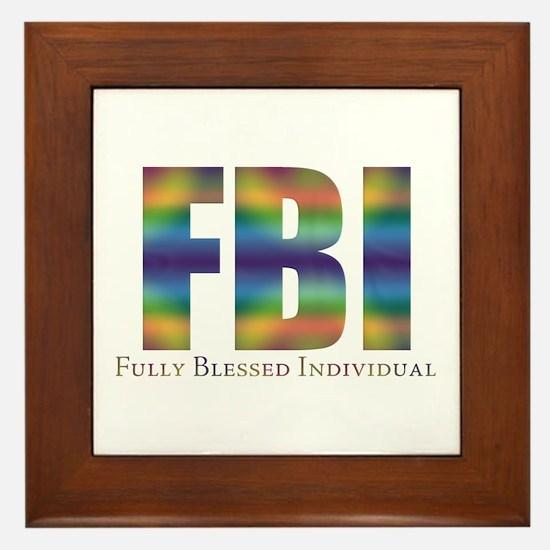 Tiedye FBI Framed Tile