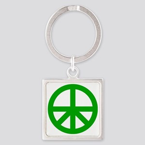 Peace On Earth Logo Square Keychain