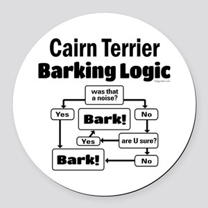 Cairn Logic Round Car Magnet