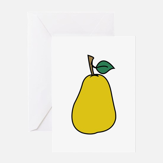 PEAR APPLIQUE Greeting Cards