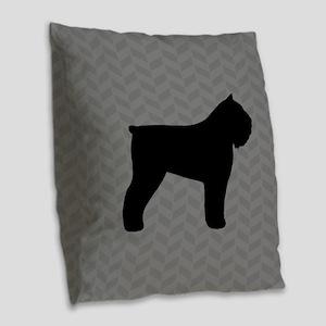 Bouvier des Flandres Burlap Throw Pillow