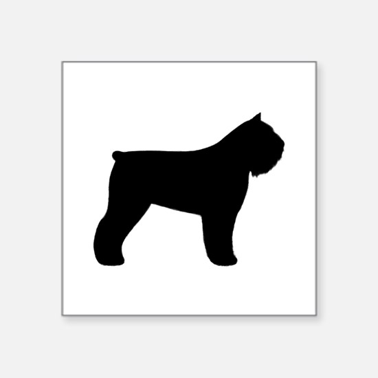 "Bouvier des Flandres Square Sticker 3"" x 3"""