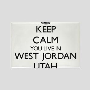 Keep calm you live in West Jordan Utah Magnets