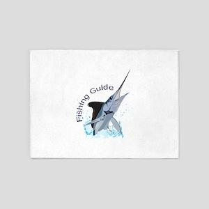 FISHING GUIDE 5'x7'Area Rug
