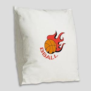 BBALL Burlap Throw Pillow