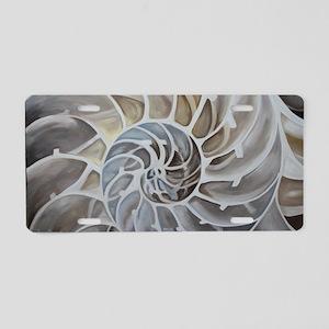 Nautilus Shell Aluminum License Plate