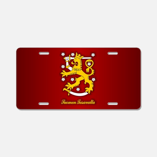 Finnish Arms Aluminum License Plate