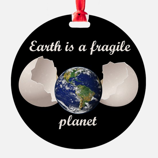 Earth is a fragile planet Ornament