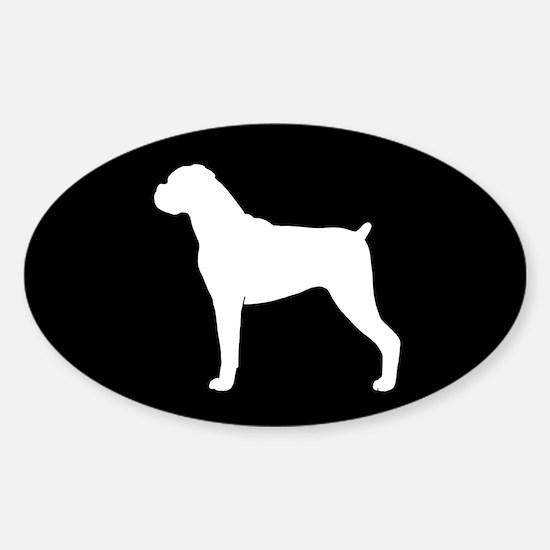 Boxer Dog Sticker (Oval)